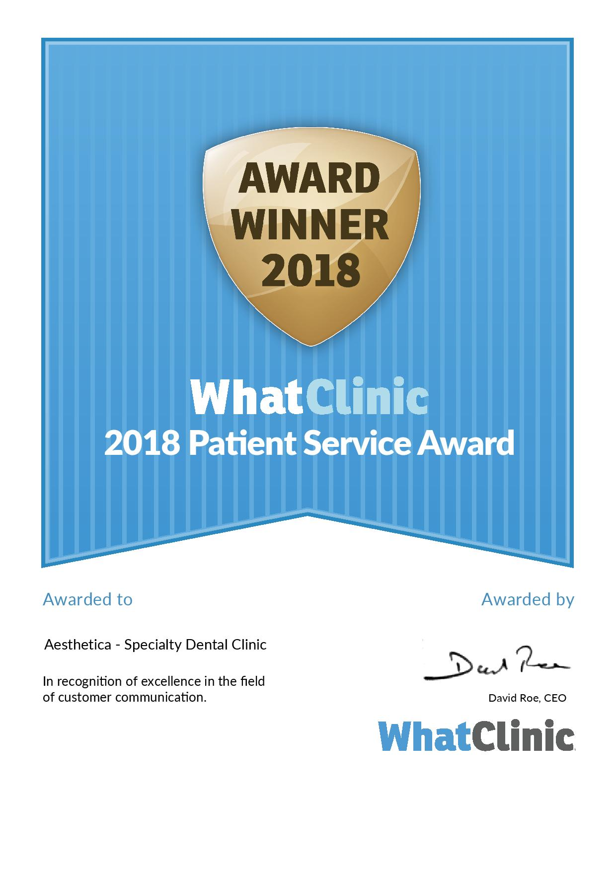 Whatclinic.com – Award Winner 2018