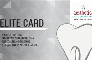 elite card at Best dental clinic kolkata
