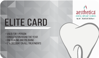elite card at Best dental clinic kolkata